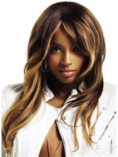 2015 New Medium Blonde Wavy Lace Front 100% Indian Remy Hair Wigs for Black Women