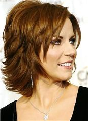 Lace Front 2015 New Short Indian Remy Hair Wavy Blonde Wigs 12 Inch