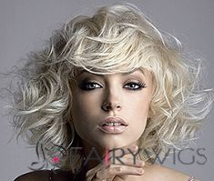 2015 New Short Wavy Gray Indian Remy Hair Wigs