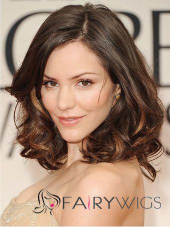 100% Human Hair Sepia Medium Wigs Full Lace Marvelous Wigs