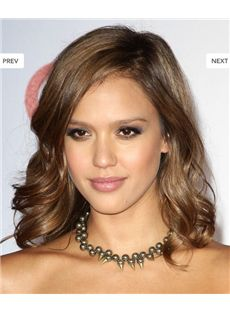 Full Lace 2013 New Short Wavy Brown 100% Indian Remy Hair Fashionable