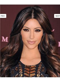 Medium Wavy Sepia 2015 New Full Lace 100% Indian Remy Hair Wigs