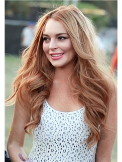 2015 New Wigs Long Wavy Brown Full Lace 100% Indian Remy Hair