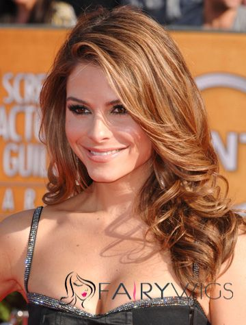 Full Lace 2015 New Medium Wavy Brown 100% Indian Remy Hair Popurlar Wigs
