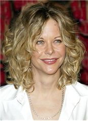 Lace Front 2013 New Short Wavy Blonde 100% Indian Remy Hair Wigs