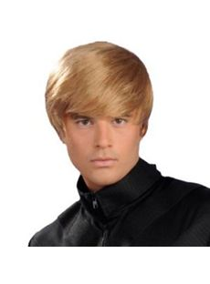 Bob Short Blonde Full Lace 100% Indian Remy Mens Wigs