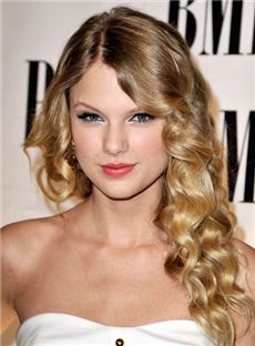 Sale Wigs Medium Wavy Blonde Full Lace Remy Hair Party Wigs