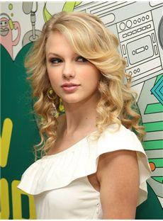 Sketchy Medium Full Lace Wavy Blonde Human Hair Wigs