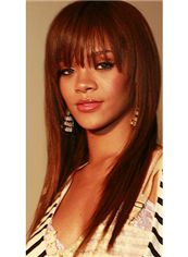Soft Medium Straight Blonde Real Human African American Wigs
