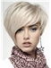 Top Quality Short Straight Gray Indian Remy Capless Wigs