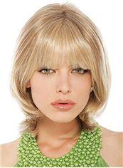 Sparkling Short Wavy Blonde Human Hair Wigs