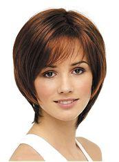Fancy Short Straight Sepia Best Full Lace Wigs