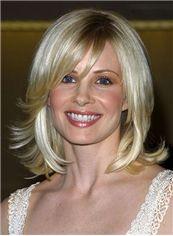 Concise Short Wavy Blonde Natural Human Hair Wigs