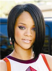 Best Full Lace Short Straight Black 100% Indian African American Wigs for Women