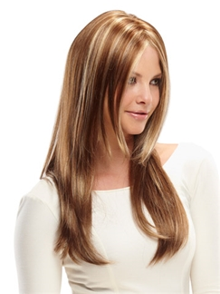Impressive Full Lace Medium Wavy Blonde 100% Indian Remy Hair Wigs
