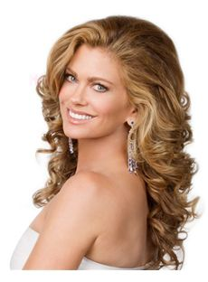 Super Smooth Best Lace Front Long Wavy Blonde Real Human Hair Wigs