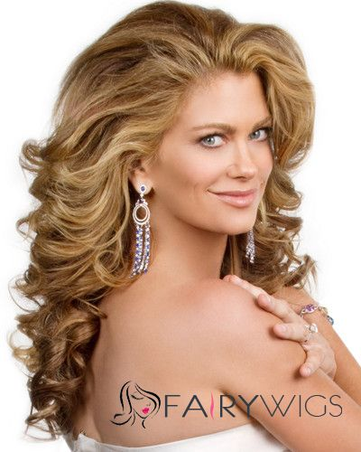 Super Smooth Best Lace Front Long Wavy Blonde Real Human
