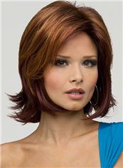 2015 Cool Cheap Full Lace Short Wavy Brown Remy Hair Wigs