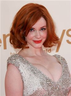 Inexpensive Capless Short Wavy Brown Indian Remy Hair Wigs