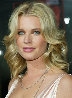 2013 Cool Best Full Lace Medium Wavy Blonde Remy Hair Wigs