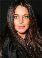 100% Human Hair Sepia Medium Straight Full Lace Wigs 18 Inch