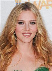 100% Human Hair Blonde Medium Full Lace Wavy Wigs