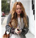 100% Human Hair Full Lace Blonde Medium Wavy Wigs