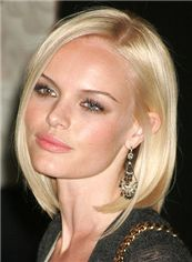 Short 100% Human Hair Blonde Straight Full Lace Wigs 12 Inch (30.48