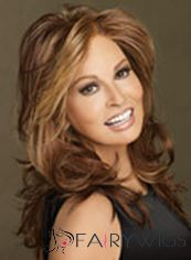 Virgin Brazilian Hair Brown Medium Wavy Full Lace Wigs 16 Inch (40.64 cm)