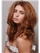 Medium Brown 100% Human Hair Wavy Full Lace Wigs