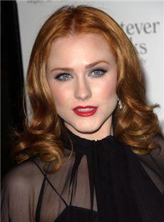100% Human Hair Brown Medium Wavy Full Lace Wigs 14