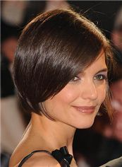 100% Human Hair Black Short Straight Full Lace Wigs