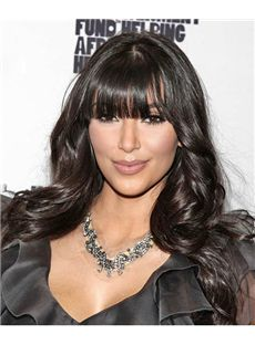 Cheap Long Sepia Female Celebrity Hairstyle