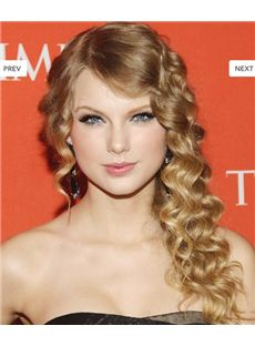 Long Blonde Lace Front Celebrity Hairstyle