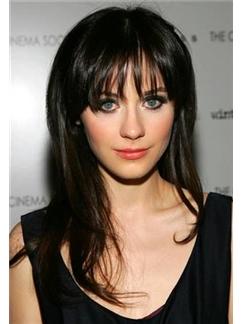 Fabulous Medium Black Full Lace Celebrity Hairstyle