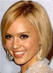 Hot Short Blonde Full Lace Celebrity Hairstyle