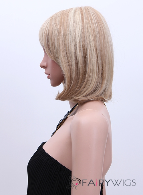 Unique Short Blonde Female Celebrity Hairstyle