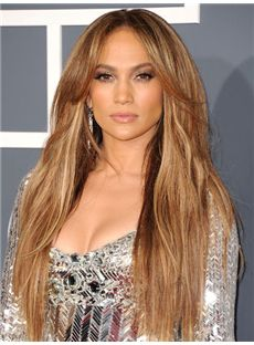 Soft Long Blonde Full Lace Celebrity Hairstyle