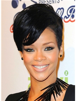 Stunning Short Black Female Celebrity Hairstyle
