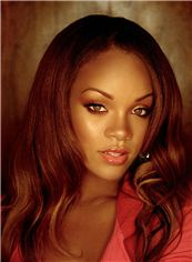 Sweet Medium Red Full Lace Celebrity Hairstyle