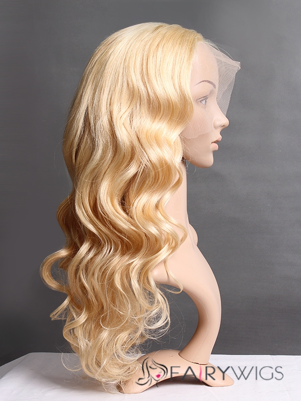 Blonde Full Lace Cheap Long Celebrity Hairstyle