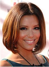 Bob Brown Full Lace Short Celebrity Hairstyle 100% Human Hair