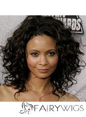 Online Wigs for Black Women Medium Black Lace Front Celebrity Hairstyle
