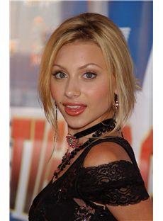 Stylish Short Blonde Full Lace Celebrity Hairstyle