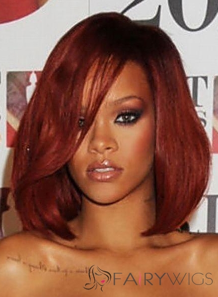 Impressive Medium Red Female African American Wigs