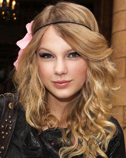Lovely Medium Blonde Full Lace Celebrity Hairstyle