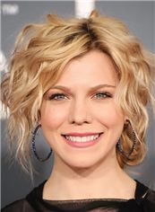 Mysterious Short Blonde Full Lace Celebrity Hairstyle