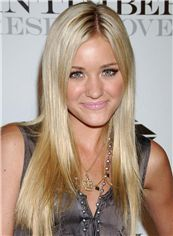Multi-function Long Full Lace Blonde Celebrity Hairstyle 100% Human