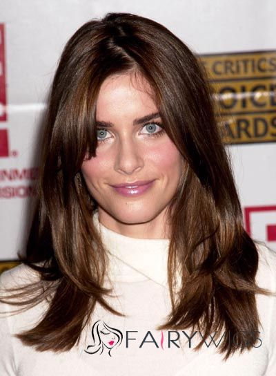 Gorgeous Medium Sepia Full Lace Celebrity Hairstyle