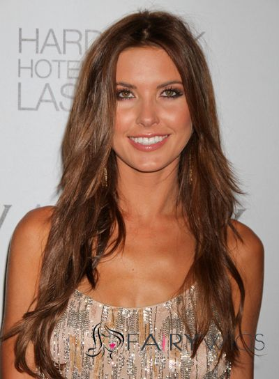 Delicate Long Brown Full Lace Celebrity Hairstyle